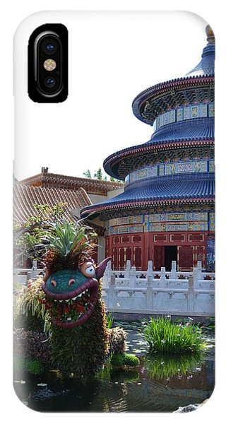 Topiary Dragon IPhone Case