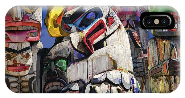 Totem Poles In The Pacific Northwest IPhone Case
