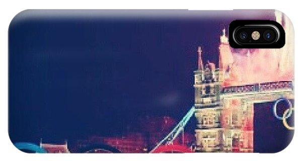 London Bridge iPhone Case - Tower Bridge Olympic Rings by Lynda Larbi