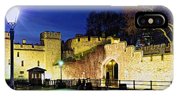 Tower Of London Walls At Night IPhone Case