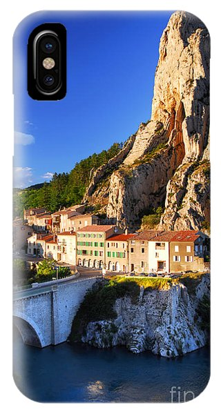 Town Of Sisteron In Provence France IPhone Case