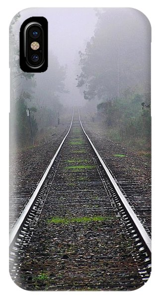 Tracks In Fog IPhone Case