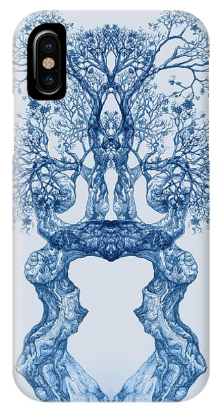 Tree 14 Blue 2 IPhone Case