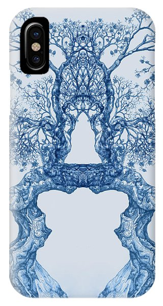 Tree 14 Blue 8 IPhone Case