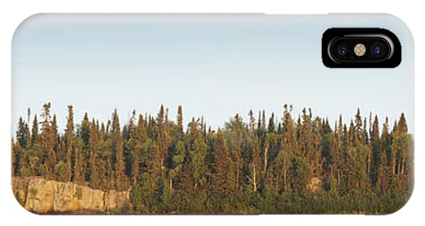 Lake Superior iPhone Case - Trees Covering An Island On Lake by Susan Dykstra
