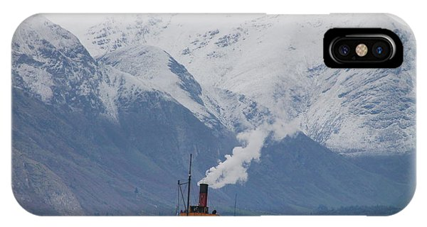 Tss Earnslaw Steamboat Against The Southern Alps IPhone Case