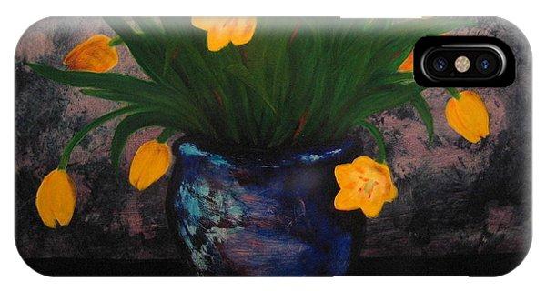 Tulips In Blue IPhone Case