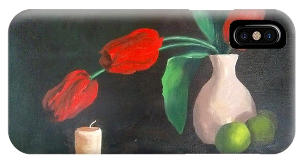 Tulips Limes And Candle IPhone Case