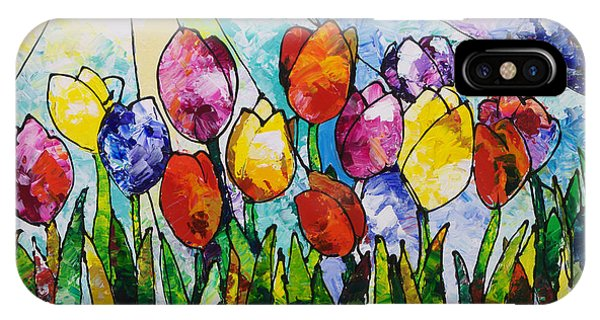Tulips On Parade IPhone Case