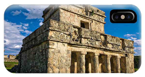 Maya iPhone Case - Tulum Temple by Meirion Matthias
