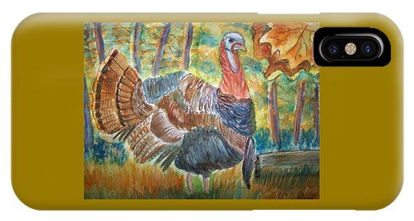 Turkey In Fall IPhone Case