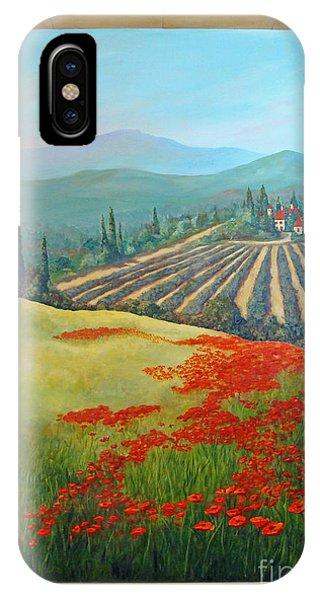 IPhone Case featuring the painting Tuscan Vista by Phyllis Howard