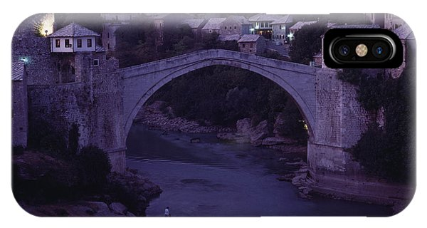 Mostar iPhone Case - Twilight View Of A 15th-century Bridge by James L. Stanfield