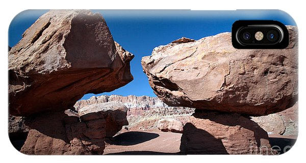 Two Balancing Boulders In The Desert IPhone Case