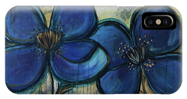 Two Blue Poppies IPhone Case