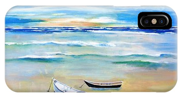 Two Boats Ashore  IPhone Case