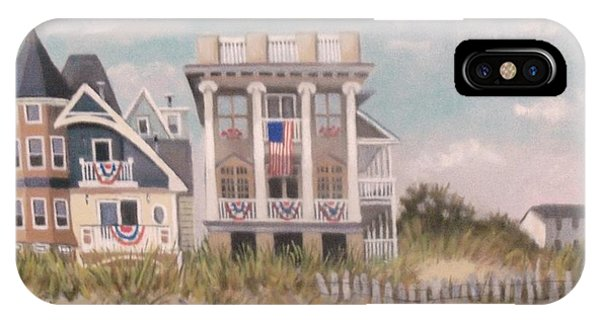 Two Different Houses On The Beach IPhone Case