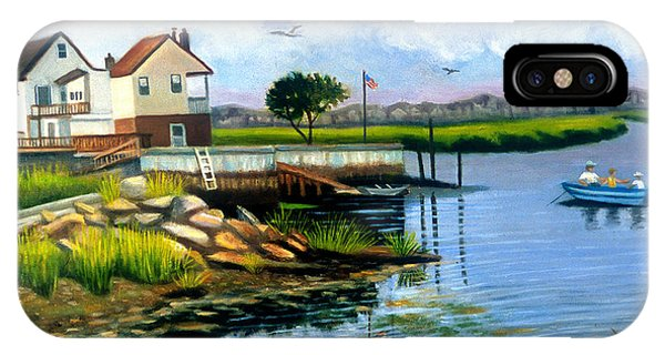 Two Houses In Broad Channel IPhone Case
