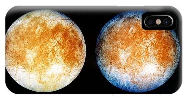Two Views Of Europa From The Galileo Spacecraft IPhone Case