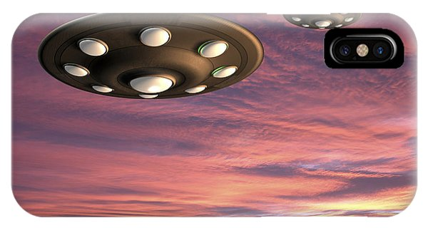 Ufo Landing IPhone Case