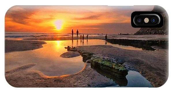 iPhone X Case - Ultra Low Tide Sunset At A North San by Larry Marshall