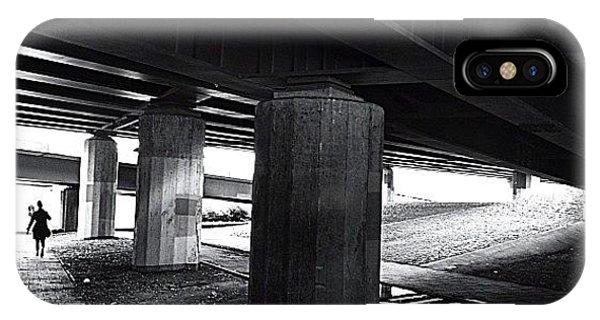 Light iPhone Case - Under The Bridge#bw# #walk #light by A Rey