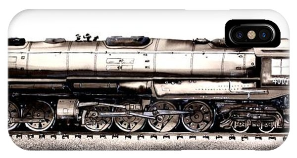 Union Pacific 4-8-8-4 Steam Engine Big Boy 4005 IPhone Case