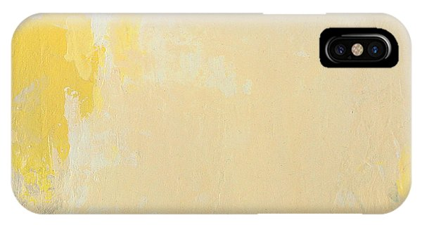Untitled Abstract - Bisque With Yellow IPhone Case