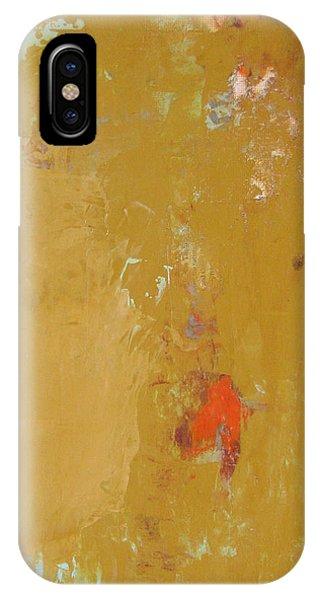 Untitled Abstract - Ochre Cinnabar IPhone Case