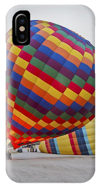 Up She Rises Hot Air Balloon Phone Case by Kantilal Patel