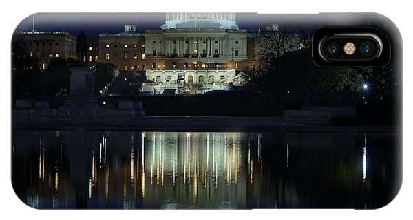 Us Capitol - Pre-dawn Getting Ready IPhone Case
