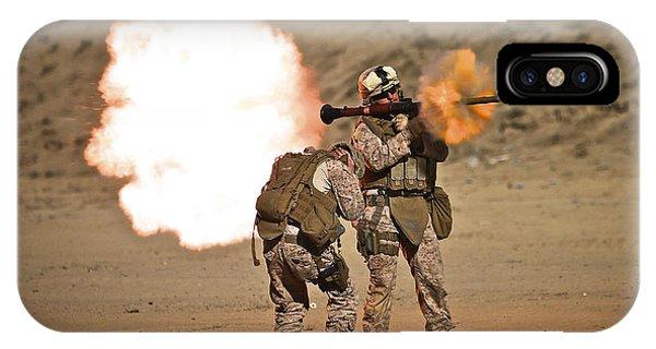 U.s. Marine Fires A Rpg-7 Grenade IPhone Case