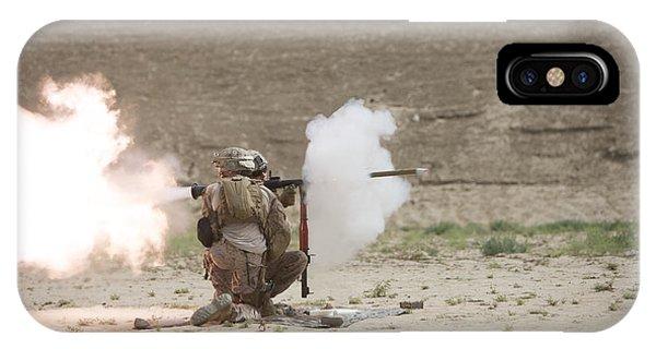 U.s. Marines Fire A Rpg-7 Grenade IPhone Case