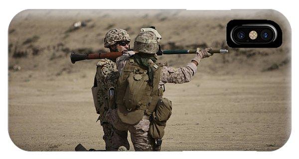 U.s. Marines Load A Fragmentation Round IPhone Case