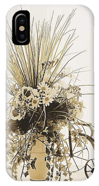 Vase With Flowers On A Window Table IPhone Case