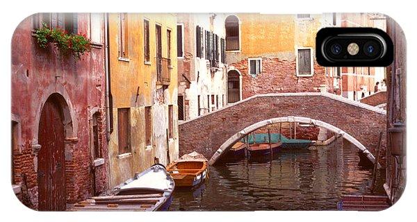 Venice Bridge Over A Small Canal. IPhone Case