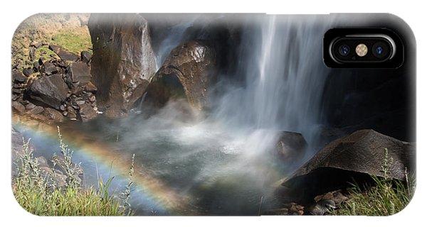 Vernal Falls Rainbow On Mist Trail Yosemite Np IPhone Case