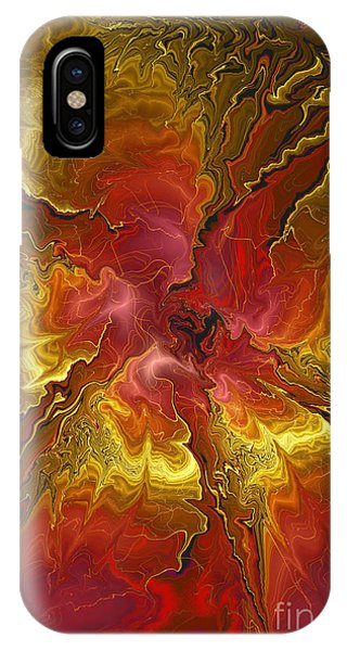 Vibrant Red And Gold IPhone Case