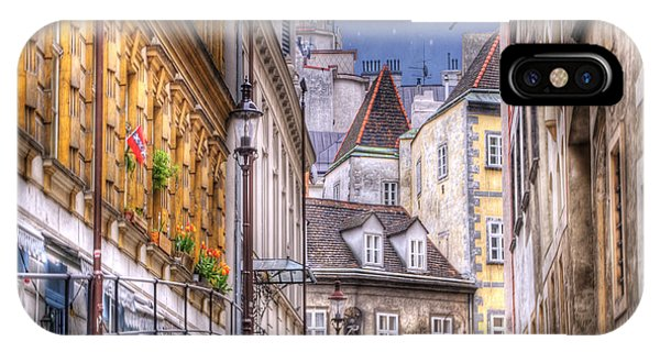 Window Shopping iPhone Case - Vienna Cobblestone Alleys And Forgotten Streets by Juli Scalzi