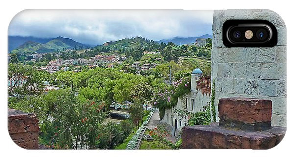 View From The City Walls - Loja - Ecuador IPhone Case