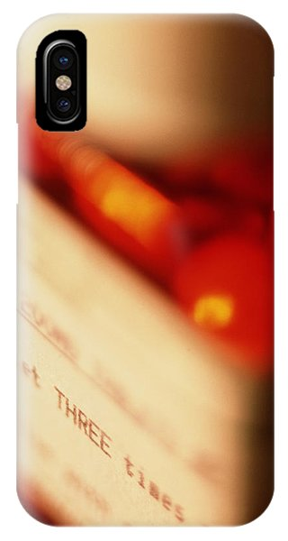View Of A Bottle Of Ibuprofen Pills Phone Case by Jeremy Walker