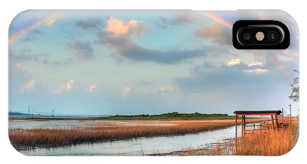 View Of Charleston Rainbow  Phone Case by Jenny Ellen Photography