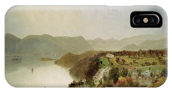 View Point iPhone Case - View Of Cozzen's Hotel Near West Point Ny by John Frederick Kensett