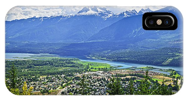 Town iPhone Case - View Of Revelstoke In British Columbia by Elena Elisseeva