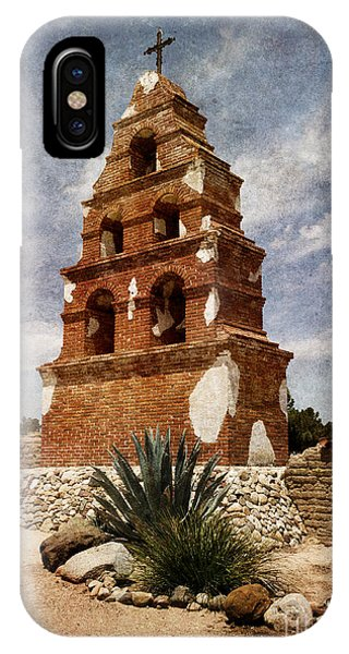 San Miguel iPhone Case - View Of The San Miguel Bell Tower by Laura Iverson