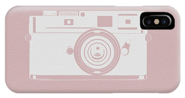 Camera iPhone Case - Vintage Camera Poster by Naxart Studio