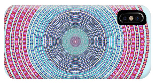 Background iPhone Case - Vintage Color Circle by Atiketta Sangasaeng