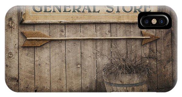 Mottled iPhone Case - Vintage Sign General Store by Jane Rix