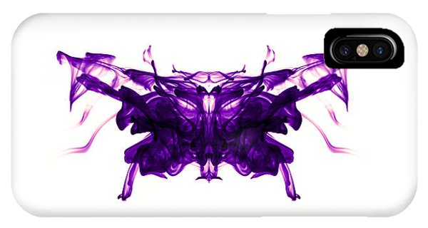Violet Abstract Butterfly IPhone Case