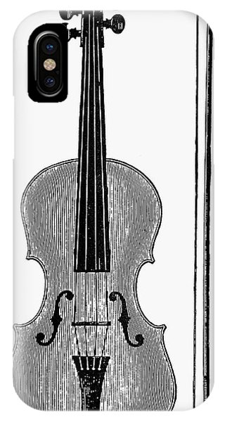 Violin iPhone X Case - Violin And Bow by Granger